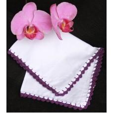 Violet crochet kerchief