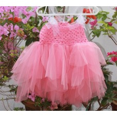 Pink crocheted dress