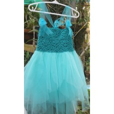 Sea blue crocheted dress