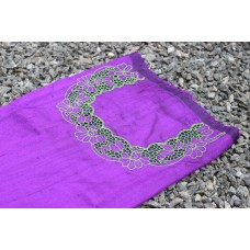 Dark Violet Rose silk cutwork kurta
