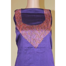 Dark Violet Chanderi Kurta with Handwork