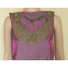 Purple Pure silk cutwork top