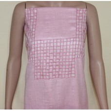 Baby pink kurta material with cutwork