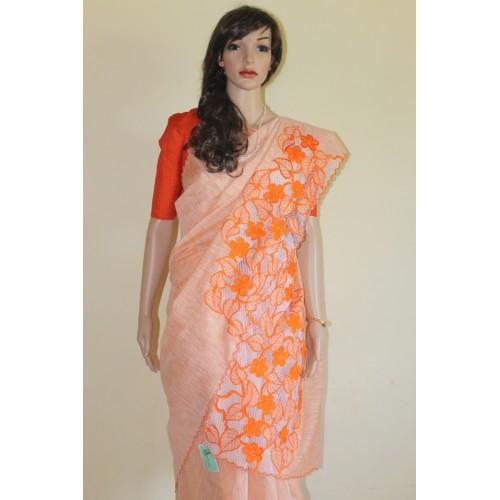Cotton Saree Hand Embroidery Designs | Makaroka.com