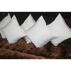 Cozy white cushion covers