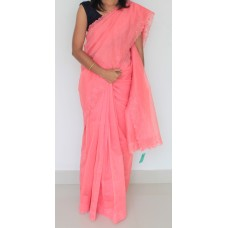 Carrot Machine embroidered silky kota saree