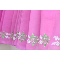 Purple pink cross stitch saree