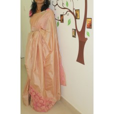 Beige Pure Silk Saree